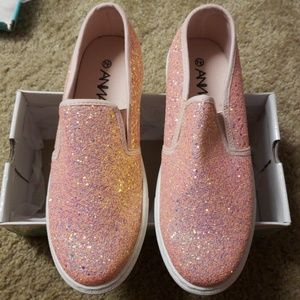 Sparkly slip on shoes